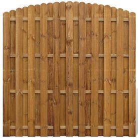Panou gard  vertical din lemn cu arcadă