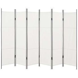 Paravan cameră cu 6 panouri, alb, 300 x 180 cm