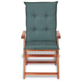 Perne pentru scaune de grădină 117 x 49 cm, albastru, 2 buc.