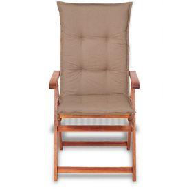 Perne pentru scaune de grădină 120 x 52 cm, maro, 6 buc.
