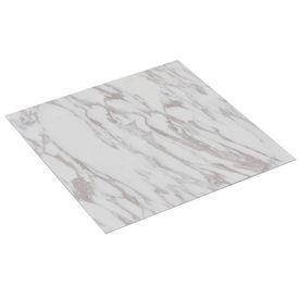Plăci de pardoseală autoadezive, PVC, 5,11 m², marmură albă