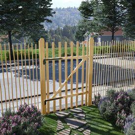 Poartă de gard simplă, lemn de alun 100x150 cm
