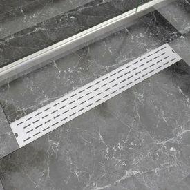 Rigolă duș liniară din oțel inoxidabil, model linie, 830x140 mm