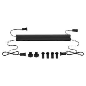 Roleta armonica / perdea plisata - 70 x 125 cm - negru - protectie impotriva luminii si a soarelui - jaluzea - fara gaurire