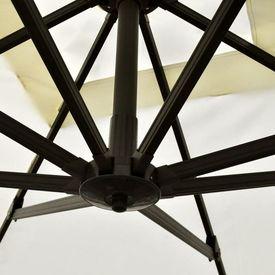Roma Umbrelă din aluminiu cu bază portabilă, 3 x 3 m