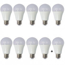 Set 10 Becuri LED Drimus 12W E27 Lumina rece DL 6121