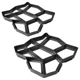 Set 2 matrițe de pavaj pentru gradină, 42 x 42 x 4 cm