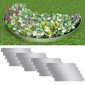 Set 20 separatoare flexibile peluză oțel galvanizat 100 x 15 cm