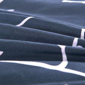 Set husă pilotă 4 piese Imprimeu Crengi 140x220/60x70 cm