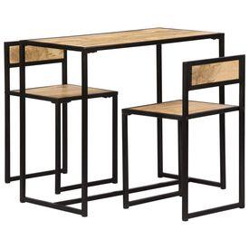 Set mobilier bucătărie, 3 piese, lemn masiv de mango