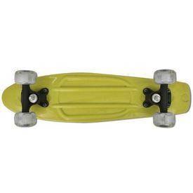 Skateboard Retro cu Roți LED Galben