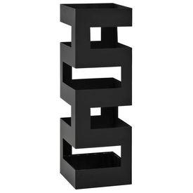 Suport de umbrele, model Tetris, oțel, negru