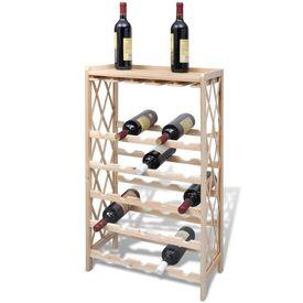 Suport sticle de vin pentru 25 de sticle, lemn