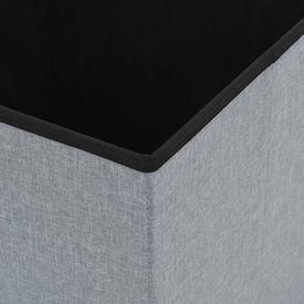 Taburet de depozitare pliabil, gri deschis, 38x38x38 cm, textil