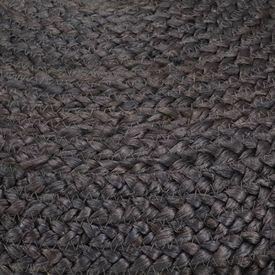 Taburet lucrat manual, gri închis, 45x30 cm, iută