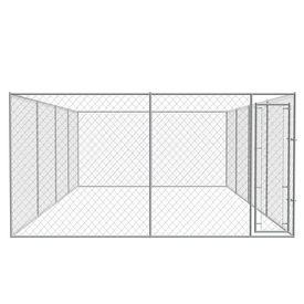 Țarc de câini pentru exterior, oțel galvanizat 8 x 4 m