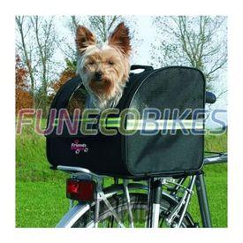 TRIXIE Geantă de bicicletă pentru transport câini 35x28x29 cm, negru