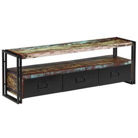 vidaXL Comodă TV din lemn masiv reciclat 120 x 30 x 40 cm