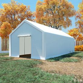 vidaXL Cort de depozitare, polietilenă, 4 x 8 m, alb