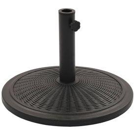 vidaXL Suport de umbrelă de soare, negru, rotund, 13 kg