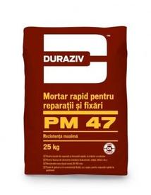Mortar rapid pentru reparații și fixări DURAZIV PM47 - 25 kg