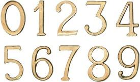 """Cifre Autoadezive din Plastic pt Usa de Apartament """"5""""  - 10 buc"""