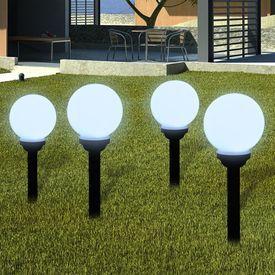 Lămpi solare pentru exterior cu LED-uri + țăruși, 15 cm, 4 buc