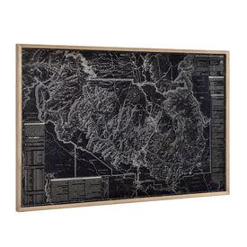 Design fotografie de perete pe placa de aluminiu Modell 2 - Harta Grand Canyon, 80x120x3,8cm cu rama lemn