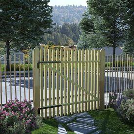 vidaXL Poartă grădină din țăruși, lemn de pin tratat, FSC, 100x100 cm