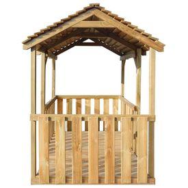 Căsuță de joacă de exterior 122,5x160x163 cm, lemn de pin FSC