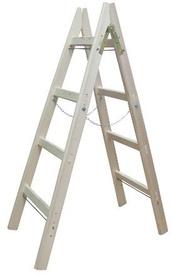 Scara Lemn Dubla cu Lant cu 8 trepte - H = 3 m