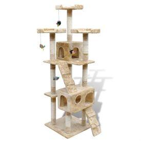 Ansamblu din sisal pentru pisici  2 compartimente 170 cm, Bej