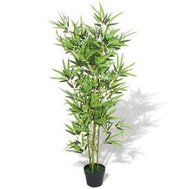 Bambus artificial cu ghiveci 120 cm, verde
