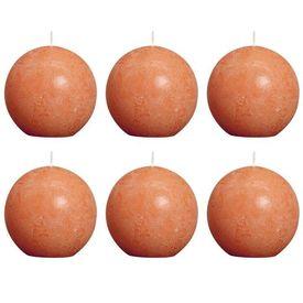 Bolsius Lumânări bilă rustice 6 buc, 80 mm, portocaliu