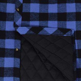 Cămașă lucru bărbați căptușită/flanel tartan albastru-negru, mărime M