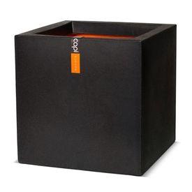 Capi Jardinieră Urban Smooth, negru, 50x50x50 cm, pătrat KBL904