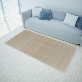 Carpetă dreptunghiulară din bambus natural 200 x 300 cm