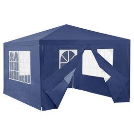 [casa.pro]® Pavilion gradina AAGP-9602, 400 x 300 x 255 cm, metal/polietilena, albastru inchis
