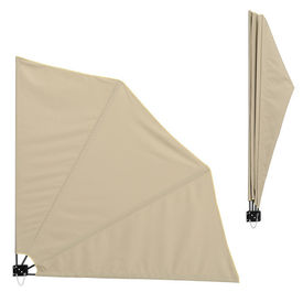 [casa.pro]®. Umbrela de soare montabila pe perete - Paravan solar de perete bej