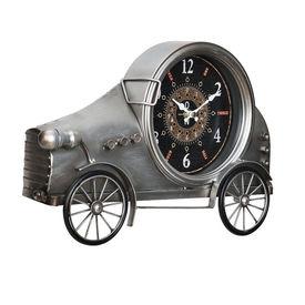 Ceas design de perete - Model 12 Oldtimer Auto, metal/sticla/MDF, 37 x 8 x 25 cm, multicolor