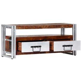 Comodă TV, 90 x 30 x 40 cm, lemn masiv reciclat