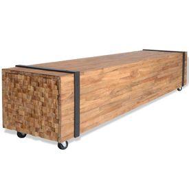 Comodă TV din lemn masiv de tec 150 x 30 x 30 cm