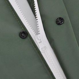 Costum de ploaie impermeabil cu glugă, mărime L, verde, 2 piese