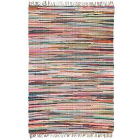 Covor Chindi țesut manual, bumbac, 200 x 290 cm, multicolor