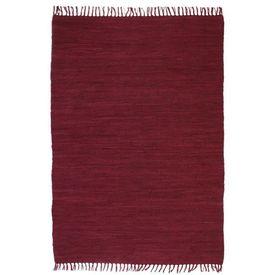 Covor Chindi țesut manual, bumbac, 200 x 290 cm, roșu burgund