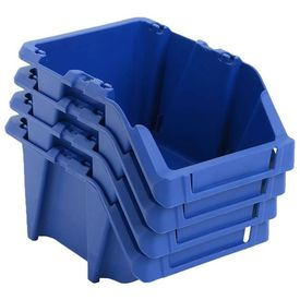 Cutii de depozitare, 50 buc, 200 x 300 x 130 mm, albastru
