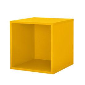 Dulap design combinat – sistem rafturi de perete - 30x30x30 cm - galben mustar