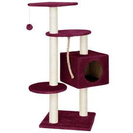 [en.casa] Mobila pisici - Sisal pisici grena cu culcus