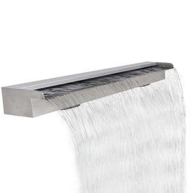 Fântână cascadă dreptunghiulară de piscină din oțel inoxidabil 120 cm