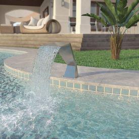 Fântână de piscină, oțel inoxidabil 64x30x52 cm, argintiu